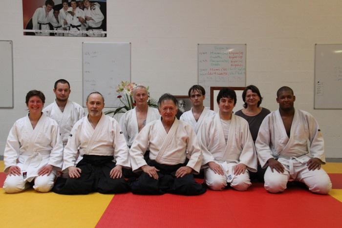 Gérard Blaize et des élèves du club lors d'un stage à Senlis